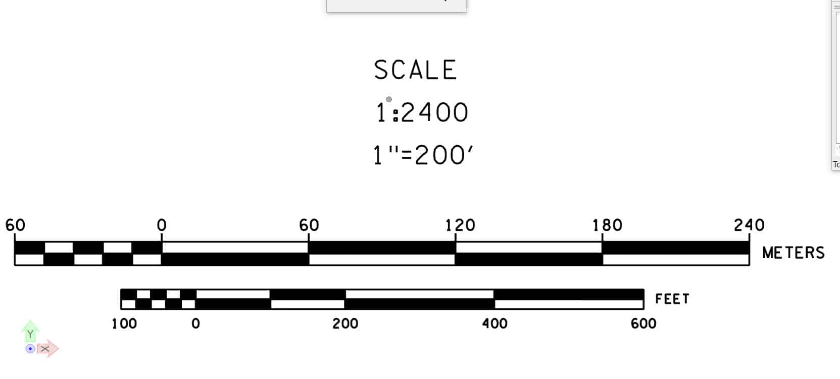 how to draw a scale bar in autocad
